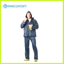 Imperméabilisez 100% polyester vêtements de pluie de revêtement de PVC