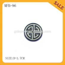 MFB96 Personalize o fornecedor dos botões do metal do revestimento de jean do costume, botões redondos do metal da impressão da máquina