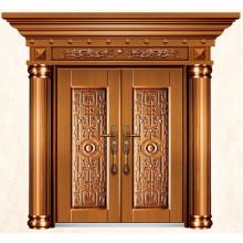 Роскошные подражать латунь наружные двери для дома