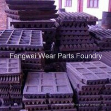Mangan Stahl Backen Platte Brecher Ersatzteile