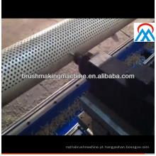 Máquina de perfuração abrasiva da escova do rolo de 2 linhas centrais