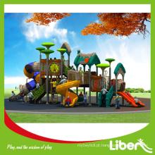 City Park Jogos Outdoor Playground Equipamentos com Slides de plástico, Kids Outdoor Playground Jogos