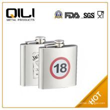 promotional 6oz stainless steel whisky liquor bottle