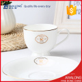 bone china tea cups restaurant usage with simple design tea cups for promotion selling