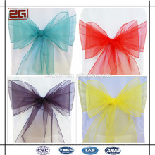 Wholesale Fancy Decoration Wedding Organza Chair Sash for Hotel Banquet Party