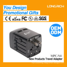 Original Design Own Patent Fashion All in one USB travel plug adapter