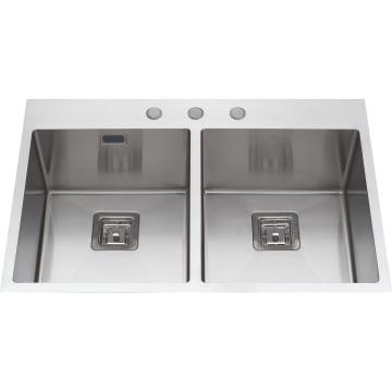 S2112 Topmount Hand Made Stainless Steel Kitchen Sink