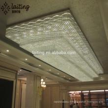 Projet et personnalisé moderne star hôtel rectangle cristal éclairage