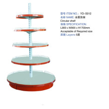 Round Shelf Supermarket Display Gondola Wall Shelves