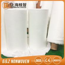 rollos de tela grandes no tejidos de tela de bambú orgánica blanca