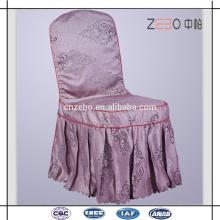 100% poliéster Jacquard tejido plisado estilo barato restaurante silla cubre
