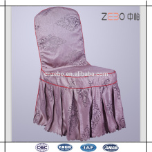 100% Polyester Jacquard Tissé Pleated Style Cheap Restaurant Chair Covers