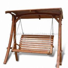 Deluxe Wooden Frame Swing Chair, Available with Canopy