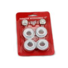 7pcs Radiateur accessoires radiateur en aluminium raccords robinets de radiateur et raccords