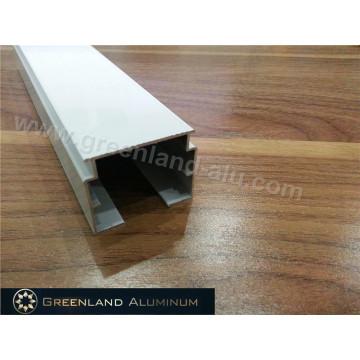 Riel de aluminio para persianas verticales con anodizado blanco o plateado