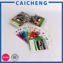 Impression de carte postale colorée faite sur commande de prix bon marché avec la boîte