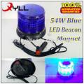 Ambulance blue warning light blue led beacon lights strobe rotating led beacons 54W waterproof