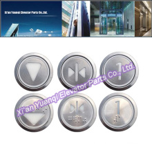 Elevator Buttons Lift Spare Parts Braille Stainless Steel Round Shape Push Call Button Brand New