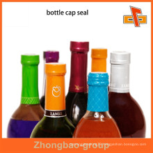 2015 newest beautiful plastic bottle cap seal for wine