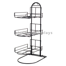 New Sports Gear Retail Store Display Fixture Custom 3-Layer Counter Top Metal Wire Hat Stand
