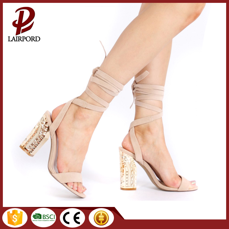 suede strap high heel sexy girl sandals