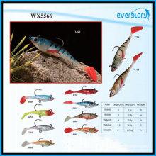 Matériel de pêche au leurre souple en plomb artificiel de 6 cm à 20 cm
