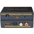 Conversor de áudio HDMI para HDMI + Spdif + RCA L / R