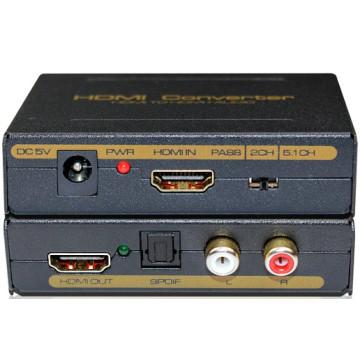 HDMI to HDMI +Spdif+RCA L/R Audio Converter