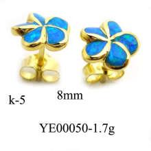 925 joyería de plata creado ópalo pendiente (YE00050)