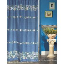 Blue Sea Círculo de diseño de cortina de ducha de tela