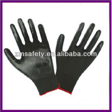 Gants noirs en nylon PU travail ZM782