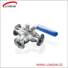 Stainless Steel 3 Way Clamped Ball Valve