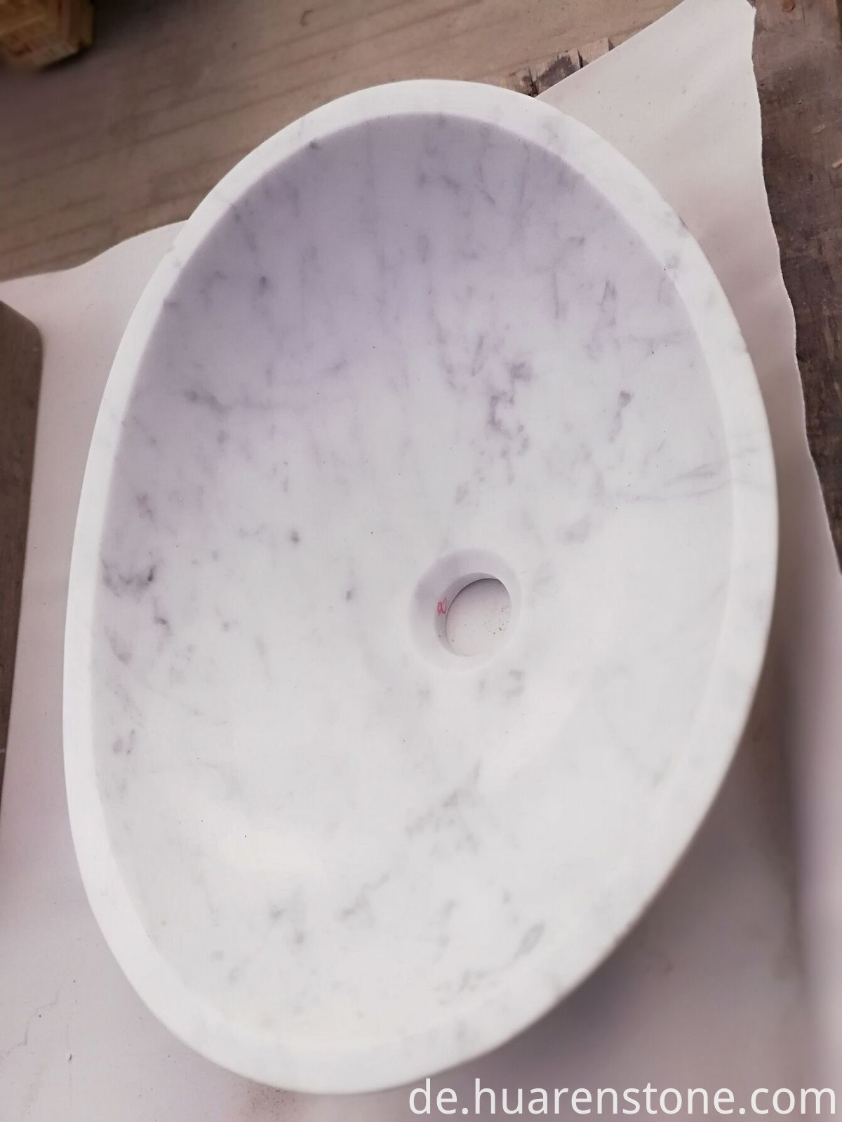 carrara marble vessel sink