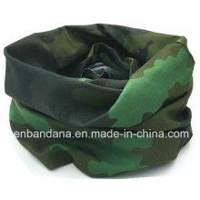 China Logo Promocional Barato Impreso Camuflaje Poliéster Microfibra Multifuncional Deportes Buff
