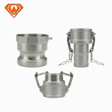 Conectores de mangueira rápida de aço inoxidável SS316 / 304