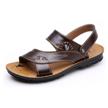 Promotional New Summer Authentic Men′s Leather Sandals, Slippers Cool Shoes