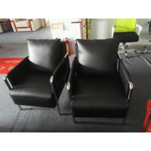 1 Cbm Per Set Office Sofa, Steel Frame Leather Sofa (6927)