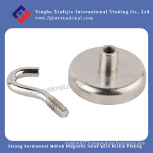 Silver/Permanent /Strong/ NdFeB/Neo/Neodymium/Ferrite/ White/ Magneic Hook