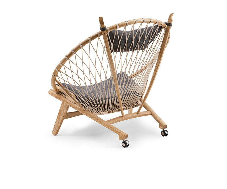 Solid wood hoop chair