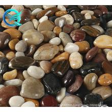 Qinge High Polished Landscaping Natural Black Pebbles Garden Riverstones