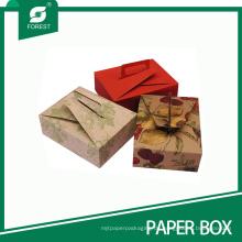 Umweltfreundlicher Druckpapier-Kasten für Gebäck-Nachtisch mit Griff