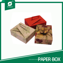 Eco-Friendly Printed Paper Box for Pastry Dessert with Handle
