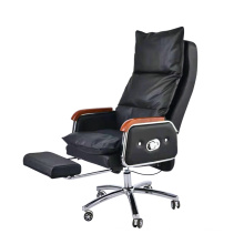 Economic Electric High Back Executive Chair Swivel Foldable Office Massage Chair with Extendable Footrest