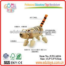 Fábrica de juguetes de madera Modelo de tigre de madera