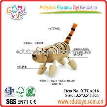 Modelo de tigre de madeira da fábrica de brinquedos de madeira