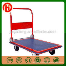 Tragbares 300 Kilogramm 150kg der hohen Qualität Vierradplattform-Laufkatzen-Werkzeug-Gebrauchs-Handwagen faltbar