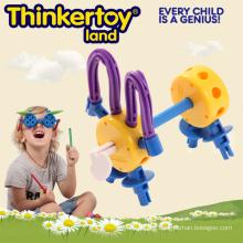Nettes Hundemodell-Ausbildung Spielzeug für Kinder Plastikblock-Spielwaren