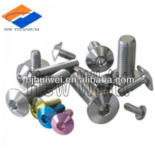 titanium alloy bolt with button head