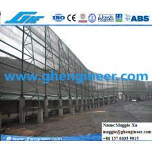 Port and Power Plant Dusting Proof Screen and Automatic Fog Gun Equipment to Collect Coal
