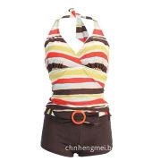 Women's swimwear, halter neck, 2-piece, 82% nylon/18% Lycra, fashionable and comfortable